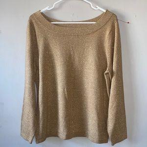 Lane Bryant gold scoop neck sweater size 14/16